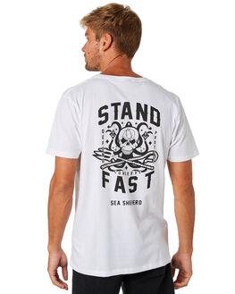 WHITE MENS CLOTHING SEA SHEPHERD TEES - SSA885BWHT