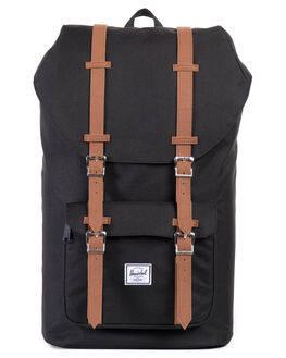 BLACK TAN MENS ACCESSORIES HERSCHEL SUPPLY CO BAGS + BACKPACKS - 10014-00001-OS