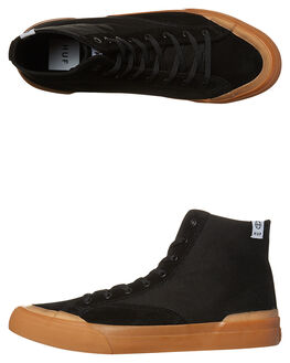 BLACK GUM MENS FOOTWEAR HUF HI TOPS - VC00006BKGUM