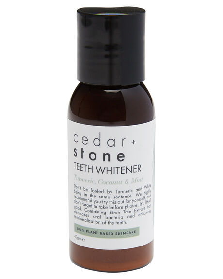 TUMERIC COCONUT MINT ACCESSORIES BODY PRODUCTS CEDAR AND STONE  - TEETHWHIT30TUM