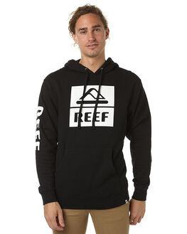 BLACK MENS CLOTHING REEF JUMPERS - FLW601BLA