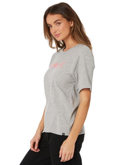GREY HEATHER WOMENS CLOTHING HURLEY TEES - AH3358050