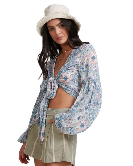 BLUE WOMENS CLOTHING BILLABONG FASHION TOPS - BB-6503158-BLU
