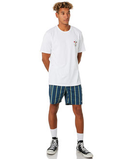 NAVY STRIPE MENS CLOTHING BARNEY COOLS BOARDSHORTS - 805-CC3NVYST