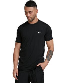 BLACK MENS CLOTHING RVCA TEES - RV-R307041-BLK