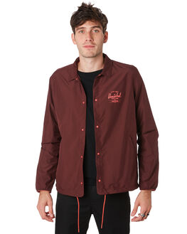 PLUM MINERAL RED MENS CLOTHING HERSCHEL SUPPLY CO JACKETS - 15002-00337PLMRD