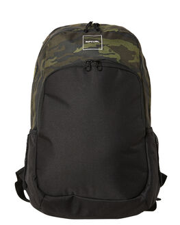 DARK OLIVE MENS ACCESSORIES RIP CURL BAGS + BACKPACKS - BBPAY19389
