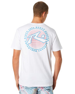 WHITE MENS CLOTHING RUSTY TEES - TTM2194WHT