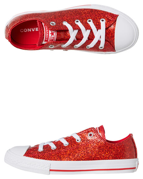 CHERRY RED KIDS GIRLS CONVERSE SNEAKERS - 662343CRED