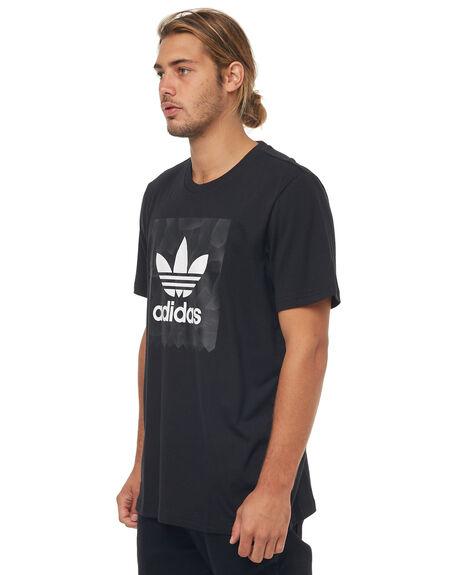 BLACK MENS CLOTHING ADIDAS ORIGINALS TEES - CF3097BLK