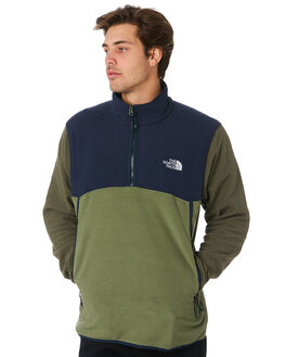 NAVY TAUPE GREEN MENS CLOTHING THE NORTH FACE JUMPERS - NF0A3MFUAUR