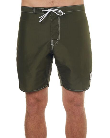 OLIVE MENS CLOTHING KATIN BOARDSHORTS - TRDOLPHINGOLIVE