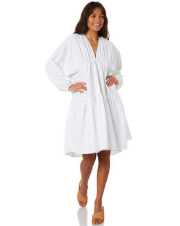 WHITE WOMENS CLOTHING ZULU AND ZEPHYR DRESSES - ZZ3052WHITE