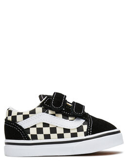 BLACK WHITE KIDS BOYS VANS FOOTWEAR - VNA38JNPOSBLK