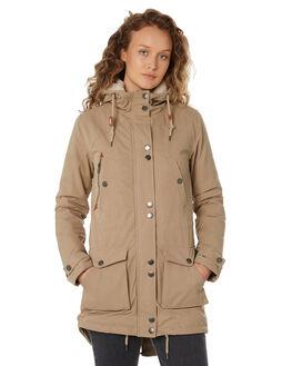 KHAKI WOMENS CLOTHING VOLCOM JACKETS - B1531700KHA