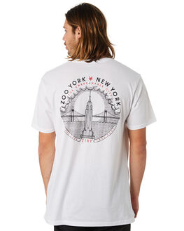 WHITE MENS CLOTHING ZOO YORK TEES - ZY-MTC8177WHT