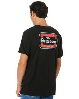 BLACK AUTUMN MENS CLOTHING BRIXTON TEES - 16163BLKAT