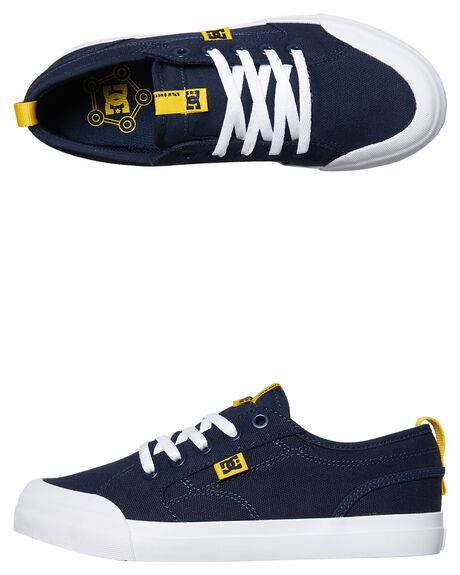 NAVY YELLOW KIDS BOYS DC SHOES SNEAKERS - ADBS300304NY0