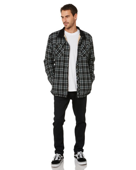 BLACK MENS CLOTHING TOWN AND COUNTRY JACKETS - TSH912ABLK