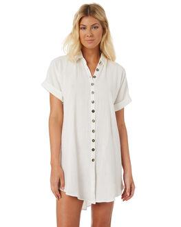 WHITE WOMENS CLOTHING SAINT HELENA DRESSES - SH18S1880WHT