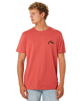 WASHED RED MENS CLOTHING RUSTY TEES - TTM2314WRD