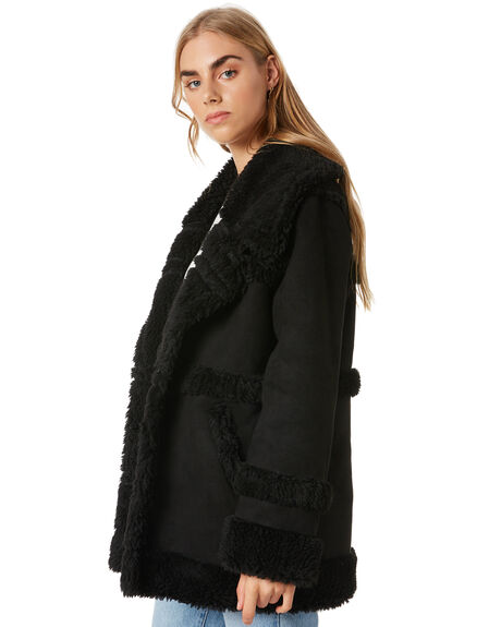 BLACK WOMENS CLOTHING ALL ABOUT EVE JACKETS - 6454049BLK
