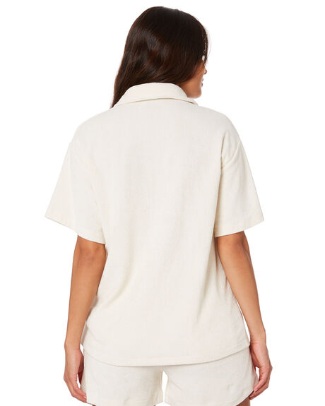 WHITE SAND WOMENS CLOTHING STUSSY FASHION TOPS - ST1M0174WSND