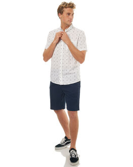 WHITE DA HUTS MENS CLOTHING QUIKSILVER SHIRTS - EQYWT03626WBB6