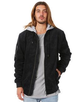 BLACK MENS CLOTHING RPM JACKETS - 8WMT18ABLK