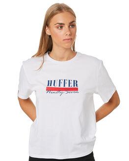 WHITE WOMENS CLOTHING HUFFER TEES - WTE01S4114WHT