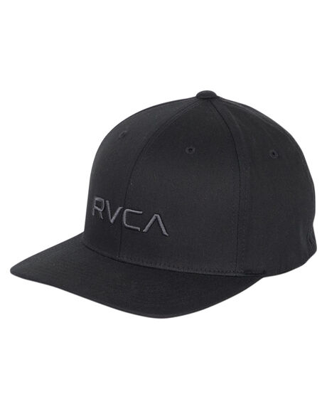 BLACK MENS ACCESSORIES RVCA HEADWEAR - R382568BBLK