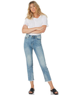 BLUE WASH WOMENS CLOTHING THE HIDDEN WAY JEANS - H8182193BLUWS