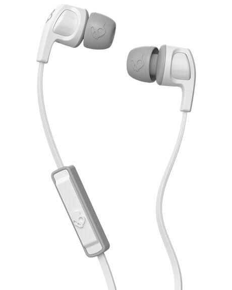 WHITE WHITE GRAY MENS ACCESSORIES SKULLCANDY AUDIO + CAMERAS - S2PGJY-560WHI