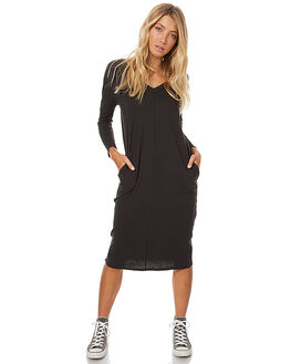 WORN BLACK WOMENS CLOTHING ASSEMBLY DRESSES - AW-W1708WBLK