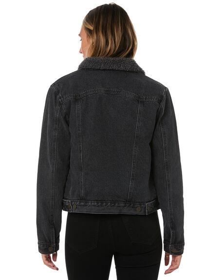 BLACK WOMENS CLOTHING SWELL JACKETS - H8182381BLACK