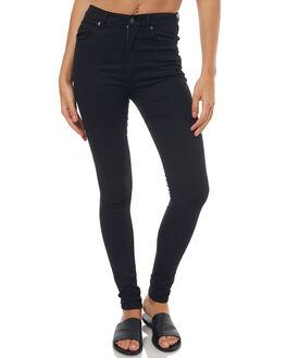 VERY STRETCH BLACK WOMENS CLOTHING CHEAP MONDAY JEANS - 0216006VERY