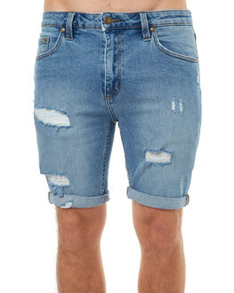 STONE BLUE DETROY MENS CLOTHING ROLLAS SHORTS - 151303258