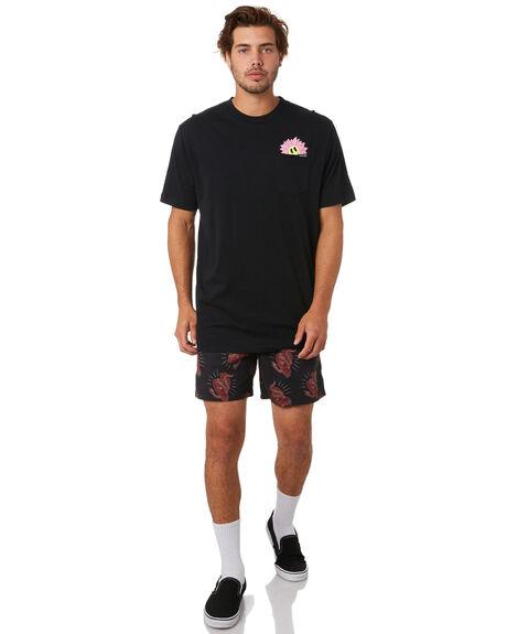 BLACK MENS CLOTHING SANTA CRUZ TEES - SC-MTA0491BLK