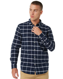 NAVY MENS CLOTHING ACADEMY BRAND SHIRTS - 19W806NVY
