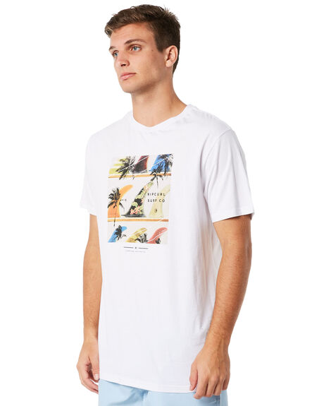 WHITE MENS CLOTHING RIP CURL TEES - CTEMY21000