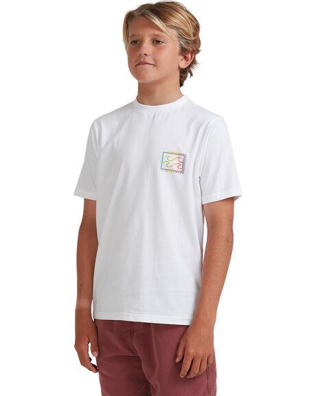 WHITE KIDS BOYS BILLABONG TOPS - 8513001-WHT
