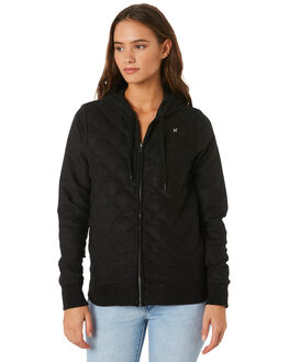 OIL GREY WOMENS CLOTHING HURLEY JACKETS - AGJTWRV013