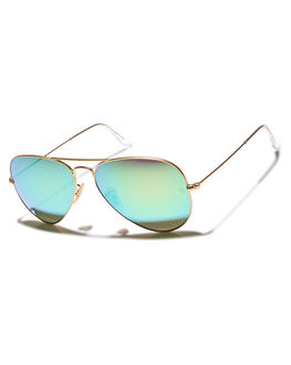 GOLD MATTE GREEN UNISEX ADULTS RAY-BAN SUNGLASSES - 0RB30255811219