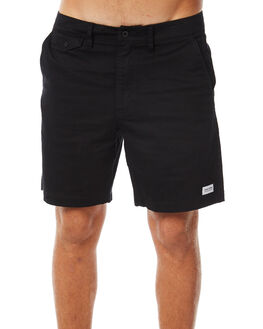 DIRTY BLACK MENS CLOTHING BANKS SHORTS - WS0083DBL
