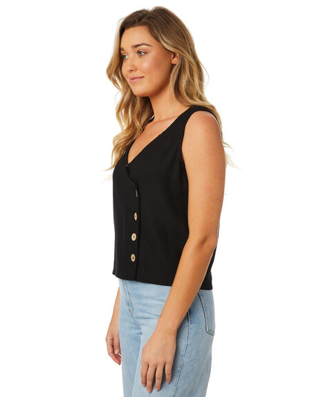 BLACK WOMENS CLOTHING SWELL FASHION TOPS - S8184196BLACK