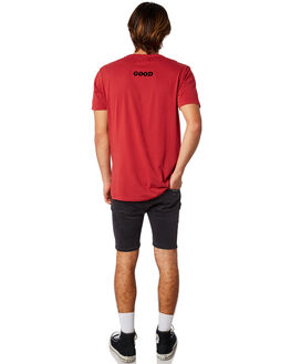 RED MENS CLOTHING ROLLAS TEES - 15441160