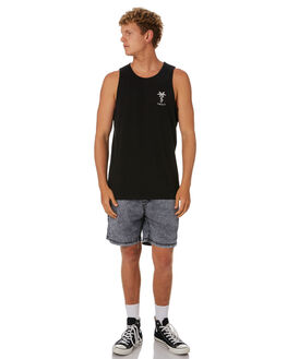BLACK MENS CLOTHING SWELL SINGLETS - S5201278BLACK