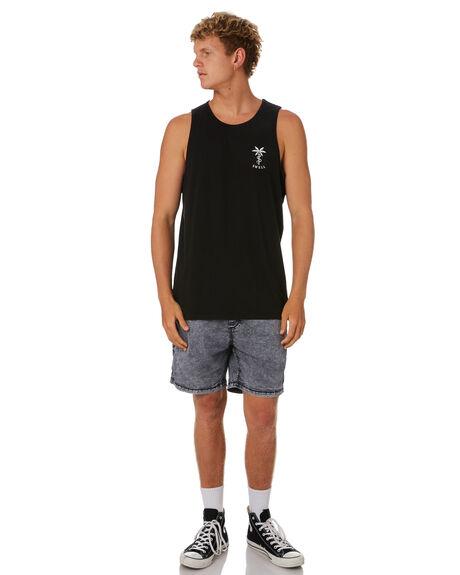 BLACK MENS CLOTHING SWELL SINGLETS - S5201278BLACK