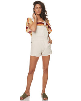 CREAM WOMENS CLOTHING ZULU AND ZEPHYR PLAYSUITS + OVERALLS - ZZ1790CRM