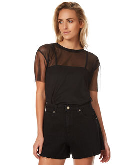 BLACK WOMENS CLOTHING ALL ABOUT EVE FASHION TOPS - 6401013BLK